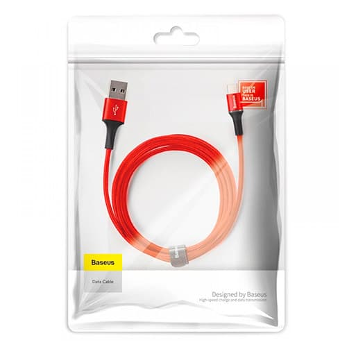 Baseus halo data cable USB For Type-C 2A 2M Red