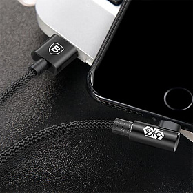 Baseus MVP Elbow Type Cable USB For IP 1.5A 2M Black